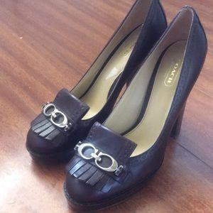 Coach heels (lightly worn)